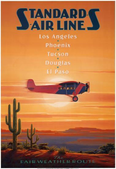 Standard Airlines, El Paso, Texas-Kerne Erickson-Art Print