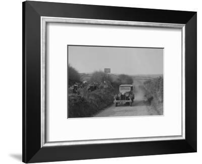 Standard saloon of AF Deane, MCC Lands End Trial, summit of Beggars Roost, Devon, 1933-Bill Brunell-Framed Photographic Print