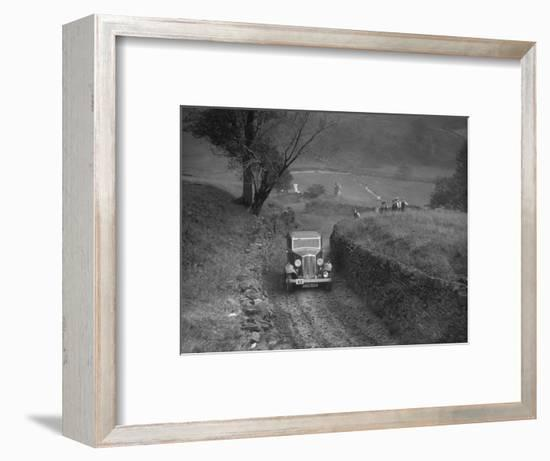 Standard saloon of HSR Payne competing in the MCC Sporting Trial, 1935-Bill Brunell-Framed Photographic Print