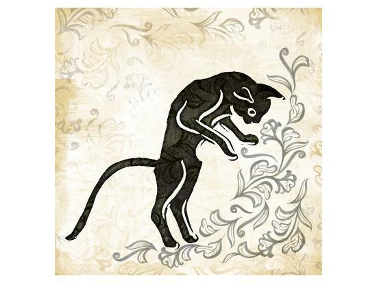 Standing Burlap Cat-Alan Hopfensperger-Art Print