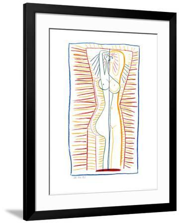 Standing Female Nude II, c.1946-Pablo Picasso-Framed Art Print