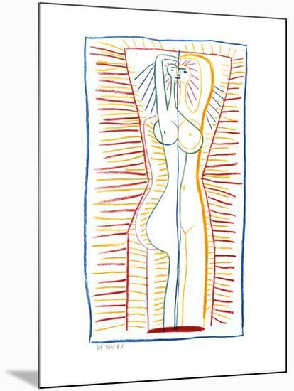 Standing Female Nude II, c.1946-Pablo Picasso-Mounted Art Print