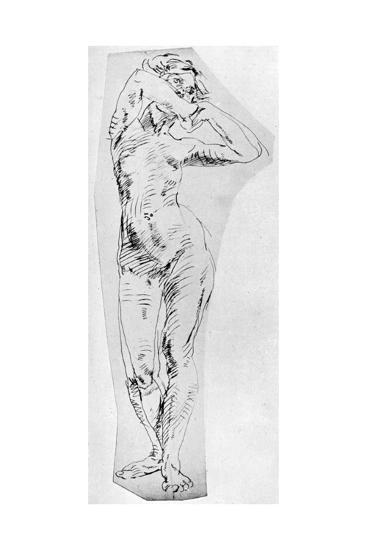 Standing Figure of a Girl, 1926-Frances Jennings-Giclee Print