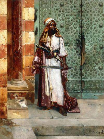 Standing Guard-Rudolphe Ernst-Giclee Print