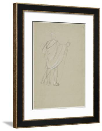 Standing Indian (Graphite Pencil on Paper)-Thomas Cole-Framed Giclee Print