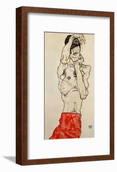 Standing Male Nude with Red Loincloth, 1914-Egon Schiele-Framed Giclee Print
