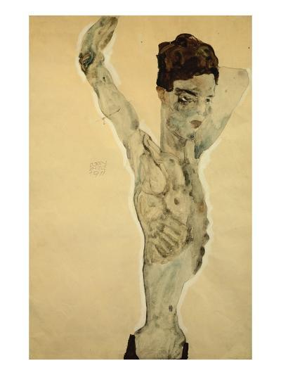Standing Male Nude-Egon Schiele-Giclee Print