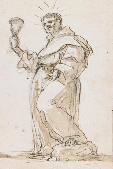 Standing Male Saint Holding a Chalice, Late 17th Century-Jorge Preu-Giclee Print