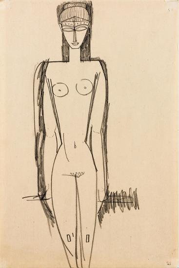 Standing Nude; Nu Debout, C.1910-1911-Amedeo Modigliani-Giclee Print