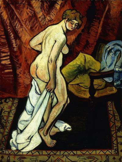 Standing Nude with Towel-Suzanne Valadon-Giclee Print