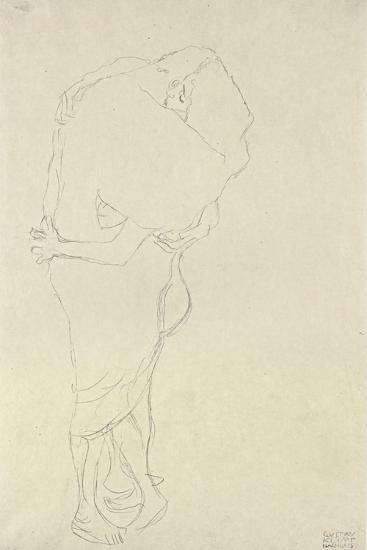 Standing Pair of Lovers-Gustav Klimt-Giclee Print