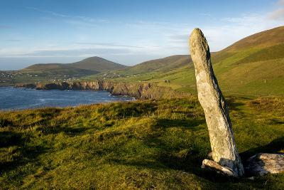 Standing Stone at Dunmore Head, Dingle, Co. Kerry, Ireland-Chris Hill-Photographic Print