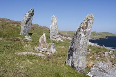 Standing Stones, Great Bernera, Isle of Lewis, Outer Hebrides, Scotland, 2009-Peter Thompson-Photographic Print