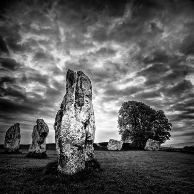 Standing Stones in Countryside-Rory Garforth-Photographic Print