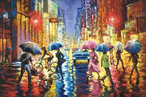 Lights in the Rain by Stanislav Sidorov