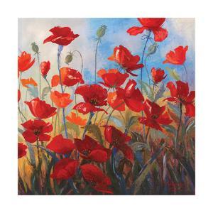 Poppies at Dusk II by Stanislav Sidorov