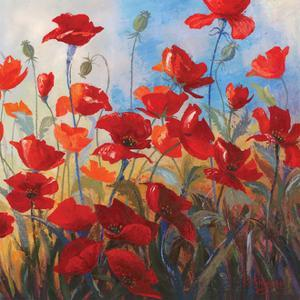 Poppies at Dusk II by Stanislav Sidorov