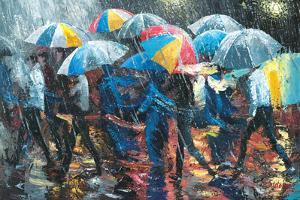 Promenade in Rain by Stanislav Sidorov