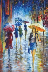 Walking in Rain III by Stanislav Sidorov