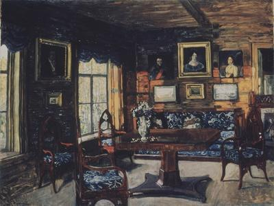 The Drawing Room in the Manor House Rozhdestveno
