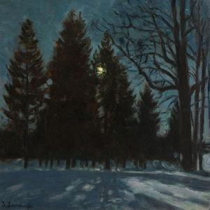 Winter Night, 1931 by Stanislav Yulianovich Zhukovsky