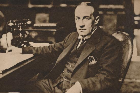 Stanley Baldwin, newly elected Prime Minister of the United Kingdom, May 1923 (1935)-Unknown-Photographic Print