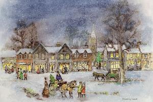 Village Street in the Snow by Stanley Cooke