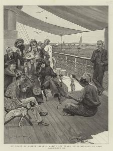 On Board an Orient Liner, a Native Conjuror's Entertainment at Suez by Stanley L^ Wood