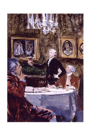 Thomas Jefferson Making a Toast 'To the Republic!' by Stanley Meltzoff