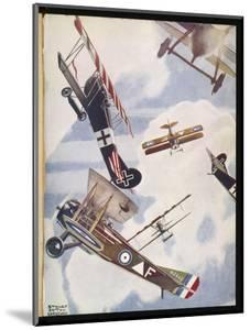 The Skies Over Europe are Filled with Warring Aircraft by Stanley Orton