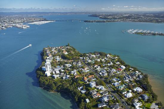 Stanley Point, Waitemata Harbour, and Auckland Harbour Bridge, Auckland, North Island, New Zealand-David Wall-Photographic Print