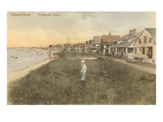 Stannard Beach, Westbrook, Connecticut--Art Print