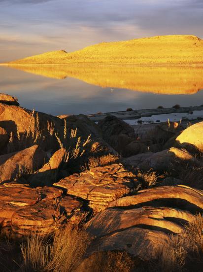 Stansbury Island, Great Salt Lake, Utah, USA-Charles Gurche-Photographic Print