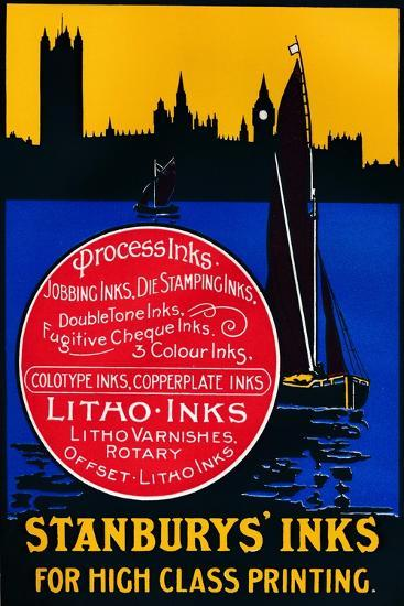 'Stansbury's Inks for High Class Painting', 1910-Unknown-Giclee Print