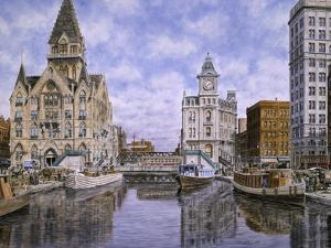 Dewitt Clinton Square, Ca. 1907, Syracuse Ny by Stanton Manolakas