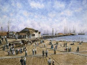 Mcfadden Wharf, Ca., Ca 1900 by Stanton Manolakas