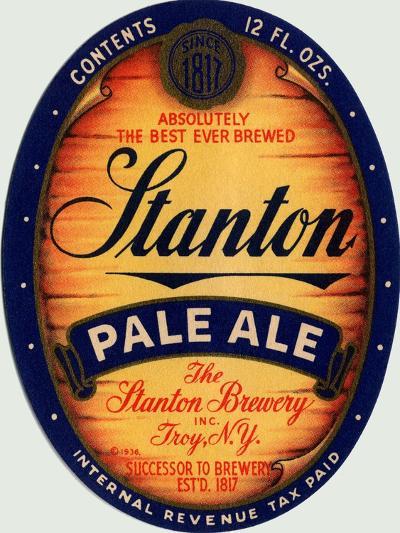 Stanton Pale Ale Beer--Art Print