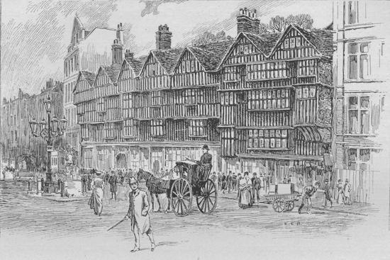 Staple Inn, Holborn Bars, London, c1910 (1911)-Unknown-Giclee Print