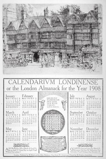 Staple Inn, London, 1907-William Monk-Giclee Print