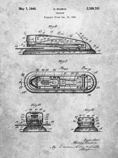 Stapler Patent-Cole Borders-Art Print