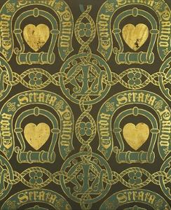 Heart Motif Ecclesiastical Wallpaper Design by Augustus Welby Pugin by Stapleton Collection