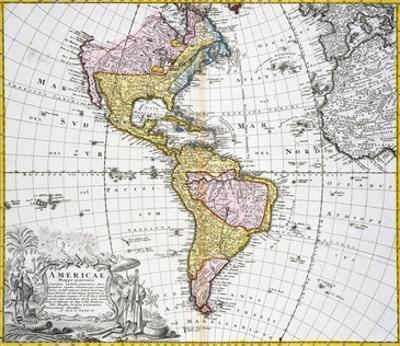 Map of the Americas by August Gottlieb Boehme by Stapleton Collection