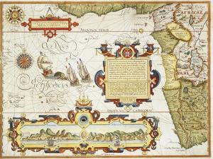 Map of Western Africa by Arnold Florent van Langren after Jan Huygen van Linschoten by Stapleton Collection