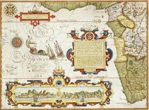 Map of Western Africa by Arnold Florent van Langren after Jan Huygen van Linschoten by Stapleton Collection