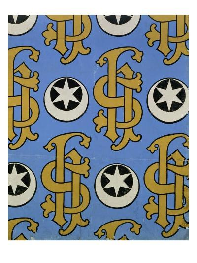 Star and Clef Ecclesiastical Wallpaper Design by Augustus Welby Pugin-Stapleton Collection-Giclee Print