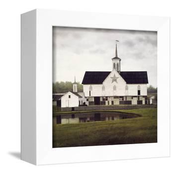 Star Barn-David Knowlton-Framed Stretched Canvas