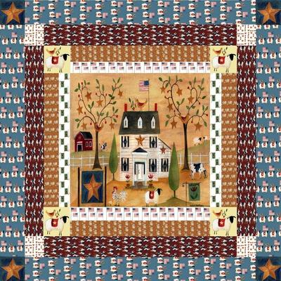 picture regarding Printable Barn Quilt Patterns referred to as Star Chook Farm Quilt Block Cheryl Bartley Giclee Print by means of Cheryl Bartley