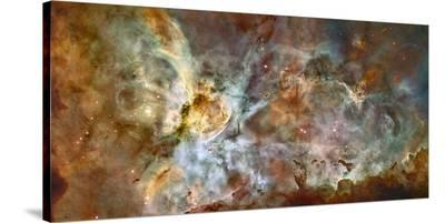 Star Birth and Star Death Create Cosmic Havoc in a Panorama of the Carina Nebula--Stretched Canvas Print