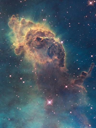 Star Birth in Carina Nebula from Hubble's Wfc3 Detector--Photographic Print