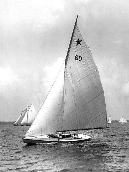 Star Class Boat Themis in Race of 1922-Edwin Levick-Photographic Print